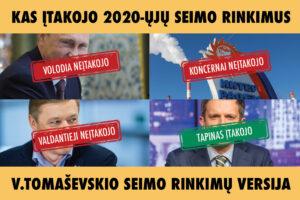 Savaitės komentaras su Eduardu Eigirdu (2020-11-03). Nepatogi tiesa: V. Tomaševskio partiją rinkimuose paskandino ne A. Tapinas, o V. Tomaševskis.