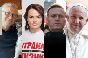 Pasaulio lyderiai: S. Cichanouskaja, A. Navalnas, B. Gatesas ir popiežius Pranciškus