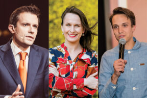 Demokratijos gelbėtojai: A. Tapinas, I. Makaraitytė ir O. Šurajevas